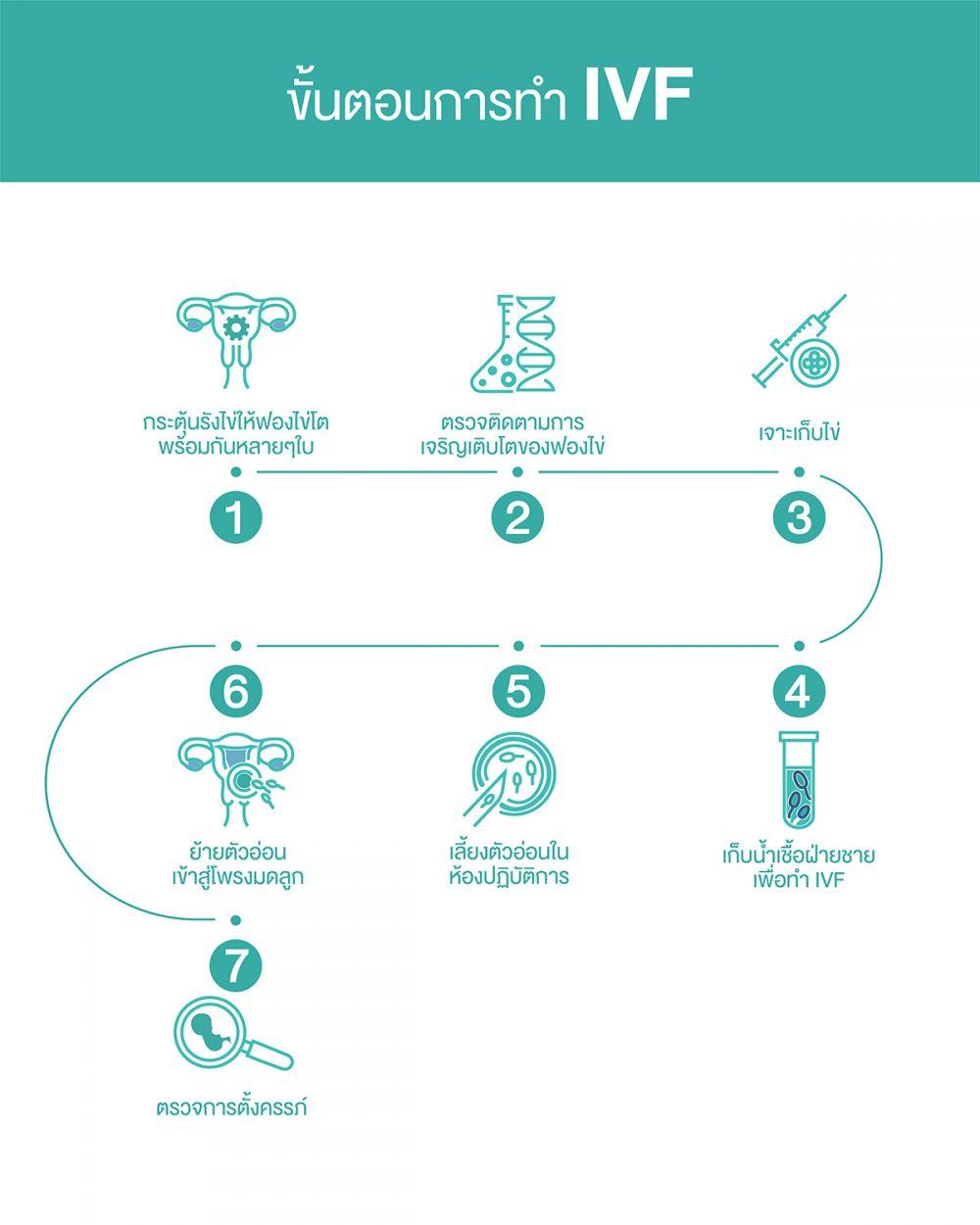 7 ขั้นตอนของการทำ IVF